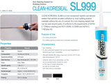 Non-staining sealant SL999 Gray Silicone Caulk Sealing of Stone Panel Joint Aluminum Panel and Composite Panel Joints