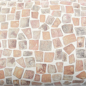 ROSEROSA Peel and Stick PVC Cobble Stone Self-Adhesive Covering Countertop Backsplash SM745