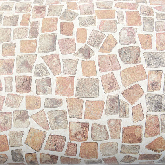 ROSEROSA Peel and Stick PVC Cobble Stone Instant Self-Adhesive Covering Countertop Backsplash SM745