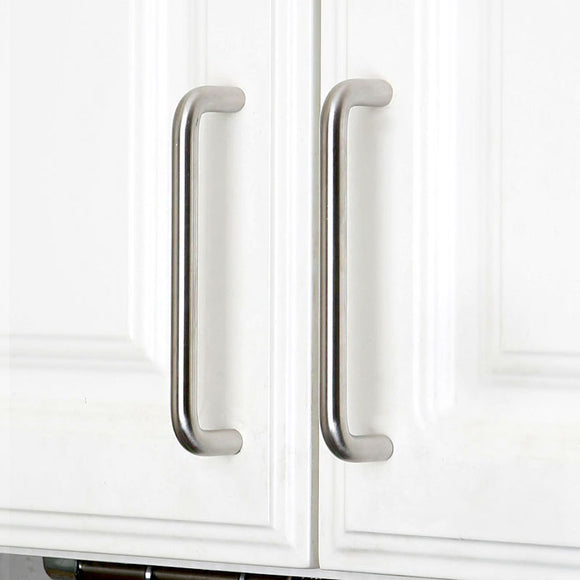 Set of 4pcs Metal Door Handles Pulls for Cupboard Cabinet Drawer USY100-Glossy Silver : 4 Handles