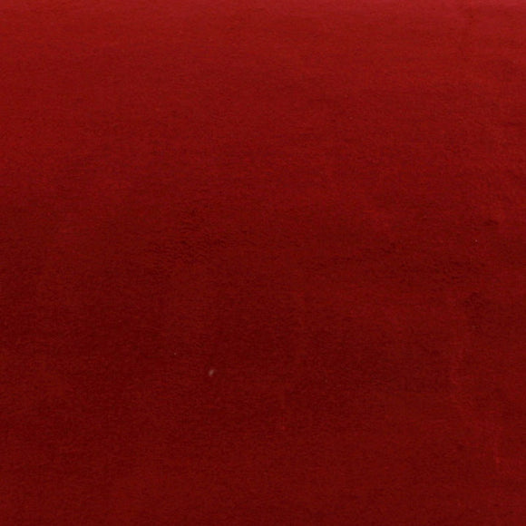 ROSEROSA Peel and Stick Suede Look Pre-pasted Fabric Shelf Liner Self-Adhesive Faux Suede : Dark Red