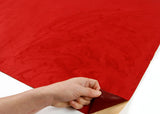 ROSEROSA Peel and Stick Suede Look Pre-pasted Fabric Shelf Liner Self-Adhesive Faux Suede : Red