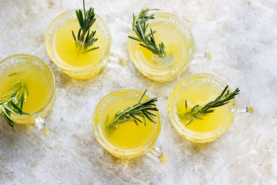 Lemon drink with herb