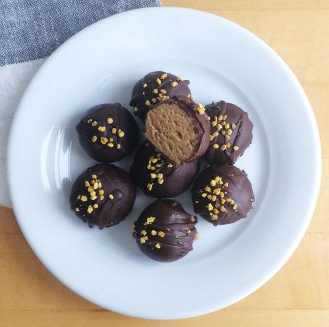 Chocolate superfood truffles made with JOYÀ Bliss cacao elixir