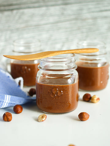 Hazelnut-cacao spread made with JOYÀ Bliss cacao elixir blend