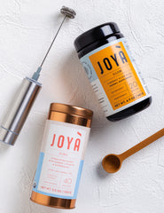 Shop JOYÀ's adaptogenic Golden Gut + Beauty Bundle at joya.ca