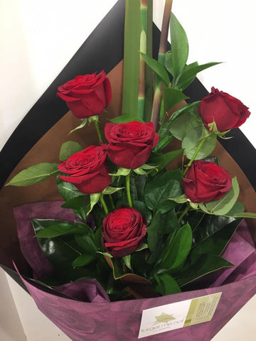 Brownie points -1/2 dozen red roses