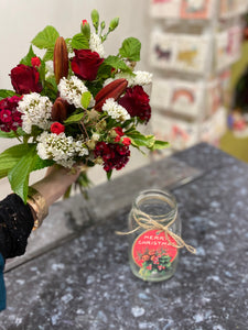 Christmas Posy Jar