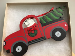 Bulldog Tree in Truck Ornament