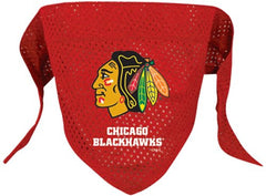 Chicago Blackhawks Mesh Dog Bandana - Chicago English Bulldog Rescue - eBully Boutique