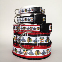 Moxino Blackhawks Stanley Cup Red Dog Collar - Chicago English Bulldog Rescue - eBully Boutique