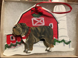 Bulldog Barn Ornament