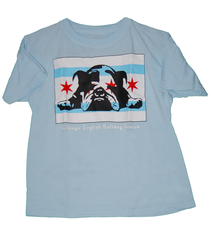 Chicago Flag Kids Tee (Light Blue) - Chicago English Bulldog Rescue - eBully Boutique