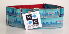 Moxino Chicago Skyline Dog Collar - Chicago English Bulldog Rescue - eBully Boutique