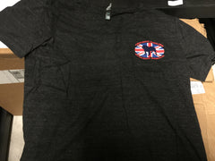Grey Union Jack Henley (Unisex) - Chicago English Bulldog Rescue - eBully Boutique  - 1