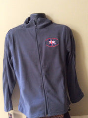 Bulldog Union Jack Microfleece Charcoal (Womens) - Chicago English Bulldog Rescue - eBully Boutique  - 1