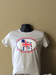 Bulldog Union Jack Short Sleeve Shirt (Womens) - Chicago English Bulldog Rescue - eBully Boutique  - 1