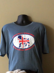 Bulldog Union Jack Unisex Heather Slate - Chicago English Bulldog Rescue - eBully Boutique