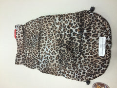 Reversible Puffer Vest - Red Leopard - Chicago English Bulldog Rescue - eBully Boutique