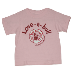 Love-a-bull Kids Tee (Pink) - Chicago English Bulldog Rescue - eBully Boutique