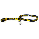 Univ of Michigan Leash - Chicago English Bulldog Rescue - eBully Boutique