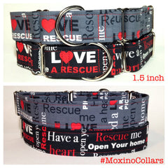 Moxino Rescue Me Dog Collar - Chicago English Bulldog Rescue - eBully Boutique