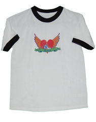 Tattoo Ringer Kids Tee (White) - Chicago English Bulldog Rescue - eBully Boutique