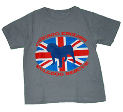 Union Jack Kids Tee (Grey) - Chicago English Bulldog Rescue - eBully Boutique