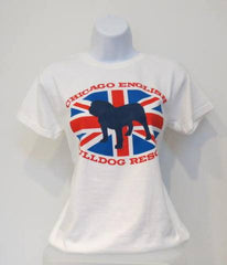 Union Jack Crew Tee (Womens) - Chicago English Bulldog Rescue - eBully Boutique