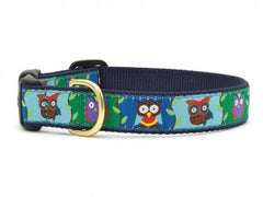 Up Country Owl Dog Collar - Chicago English Bulldog Rescue - eBully Boutique