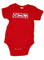 Eat Sleep Bulldog Onesie (Two Colors) - Chicago English Bulldog Rescue - eBully Boutique  - 1
