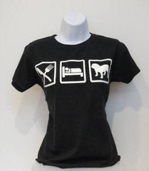 Eat-Sleep-Bulldog Tee (Womens) - Chicago English Bulldog Rescue - eBully Boutique  - 1