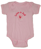Love-a-bull Onesie (Pink) - Chicago English Bulldog Rescue - eBully Boutique  - 1