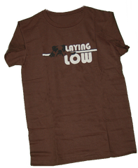 Laying Low Chocolate Tee (Womens) - Chicago English Bulldog Rescue - eBully Boutique