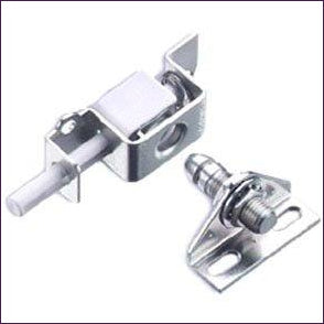 Push-to-Close Hidden-Panel Latch