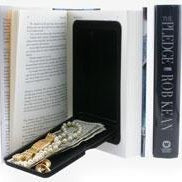 Diversion Book Safe Made from a Real Book (2 books)