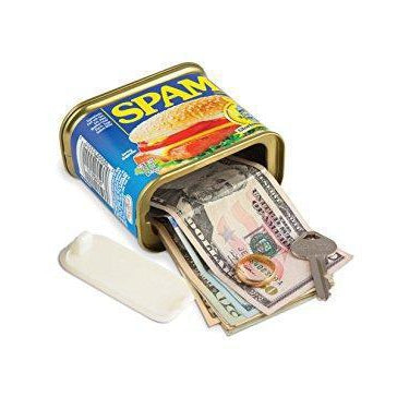 SPAM Can Safe - Diversion Safes - Hide your stash and money in everyday items that contain secret compartments, if they don't see it, they can't get it -Secret Stashing
