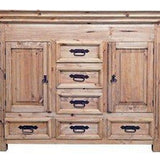 Rustic Small Dresser with Hidden Lockable Gun Chest on Top - Concealment furniture and gun concealment furniture to hide your money, pistol, rifle or other weapons, keep guns safe away from kids with hidden compartment furniture -Secret Stashing