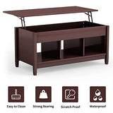 Coffee Table w/Hidden Compartment Lift Top - Concealment furniture and gun concealment furniture to hide your money, pistol, rifle or other weapons, keep guns safe away from kids with hidden compartment furniture -Secret Stashing