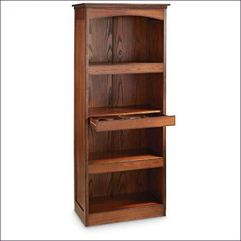 Gun Concealment Bookcase - Concealment furniture and gun concealment furniture to hide your money, pistol, rifle or other weapons, keep guns safe away from kids with hidden compartment furniture -Secret Stashing