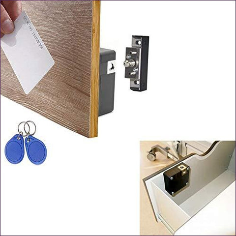Hidden DIY Lock for Wooden Cabinet Drawer Locker, RFID Card/Tag Entry