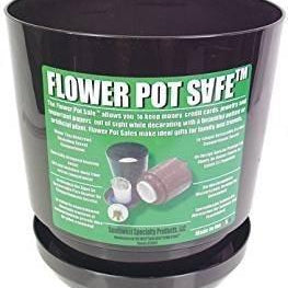 Flower Pot Safe Diversion Safe - Diversion Safes - Hide your stash and money in everyday items that contain secret compartments, if they don't see it, they can't get it -Secret Stashing