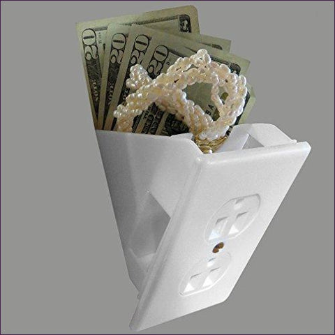 Hidden Wall Outlet Diversion Safe - Diversion Safes - Hide your stash and money in everyday items that contain secret compartments, if they don't see it, they can't get it -Secret Stashing
