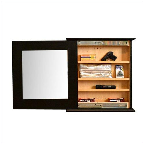 Hidden Compartment Mirror - Craftsman - Concealment furniture to keep your guns and valuables safe from kids and thieves by using secret and hidden compartments -Secret Stashing