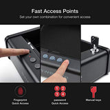 Gun Safe with Fingerprint Identification and Biometric Lock - Home Safes - Find the best secured safes to keep your money, guns and valuables safes and secure -Secret Stashing