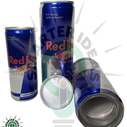 Fake Red Bull Safe Diversion Secret Stash Safes with Hidden Storage - Diversion Safes - Hide your stash and money in everyday items that contain secret compartments, if they don't see it, they can't get it -Secret Stashing