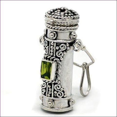 Poison Bottle Pillbox Urn Pendant - Hide your money and passport and keep it safe when traveling with clothes and jewelry with secret compartments -Secret Stashing