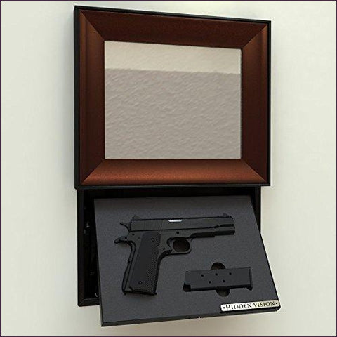 Concealment Picture Frame and Fingerprint Lock - Secret compartment decor - find furniture, statues and clocks and other decor products that look like your regular home decor with secret compartments and hidden drawers to keep your valuables hidden on plain sight -Secret Stashing