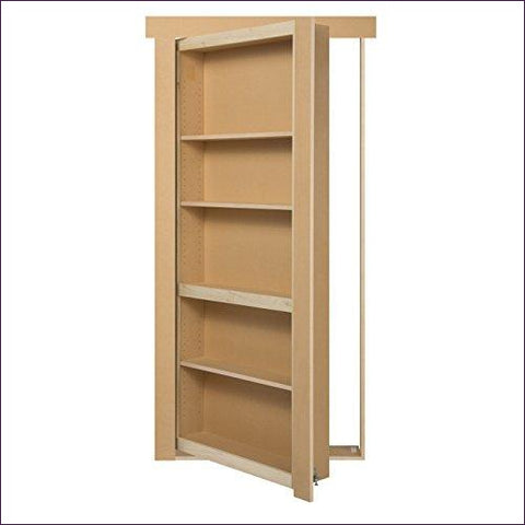 "Murphy Door Bookcase DIY kit 34"" Paint Grade Unpainted"