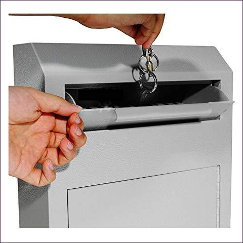 Wall Mount Locking Deposit Drop Box Safe - Home Safes - Find the best secured safes to keep your money, guns and valuables safes and secure -Secret Stashing